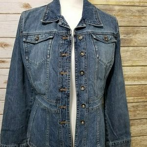 DKNY Fitted & Flare Denim Jacket XL